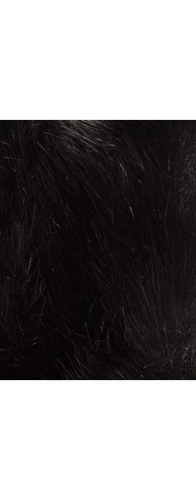 Pia Rossini Monroe Faux Fur Cuff Black