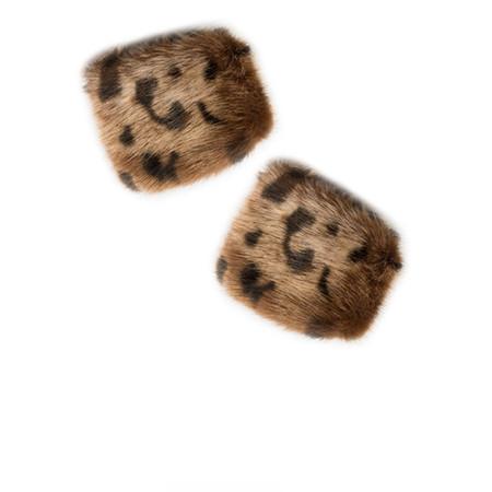 Pia Rossini Monroe Faux Fur Cuff - Ocelot