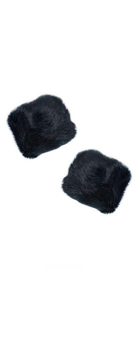 Pia Rossini Monroe Faux Fur Cuff Navy
