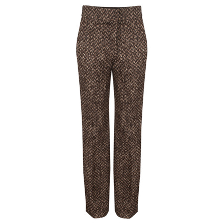 Turnover Wool Blend Trouser - Black