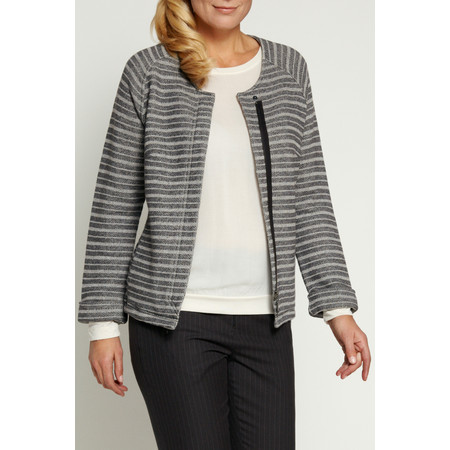 Sandwich Clothing French Terry Stripe Jacket - Grey