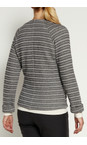 Sandwich Clothing Charcoal French Terry Stripe Jacket