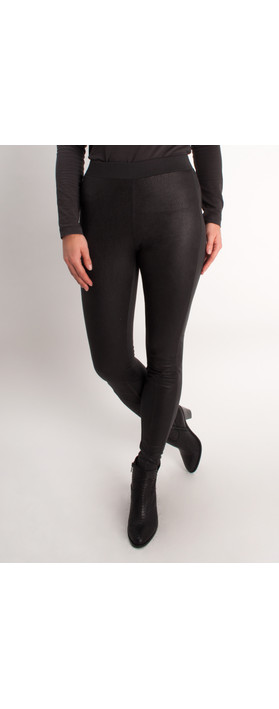 Sandwich Clothing Faux Leather Leggings Charcoal