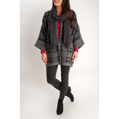 Sandwich Clothing Soft Wool Jacquard Cardigan - Metallic