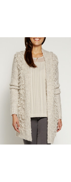 Sandwich Clothing Wool Boucle Cardigan Pebbles