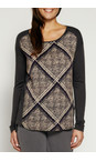 Sandwich Clothing Faded Apricot Animal Check Print Top