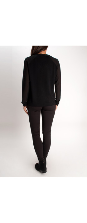 Sandwich Clothing Wool Pullover Black