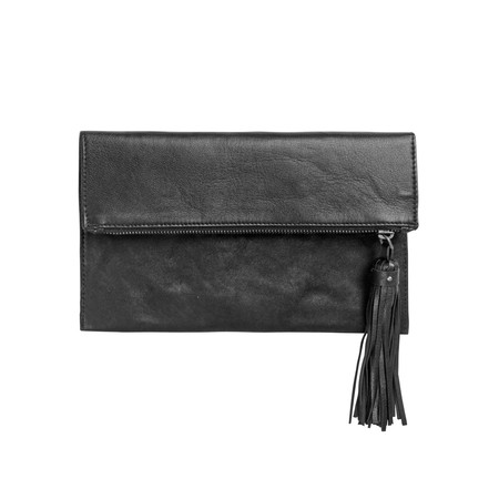BeckSondergaard V-Iwata Leather Handbag - Black