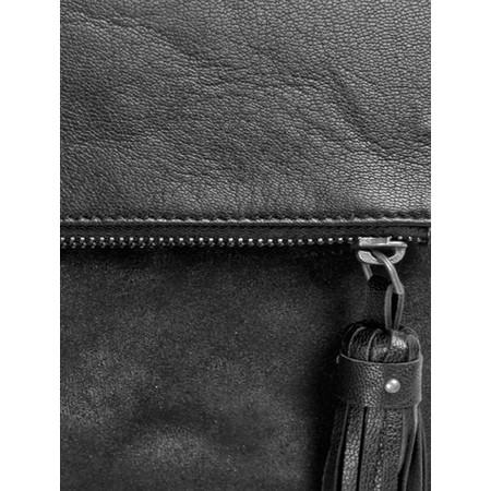 BeckSondergaard V-Iwata Leather Handbag - Black