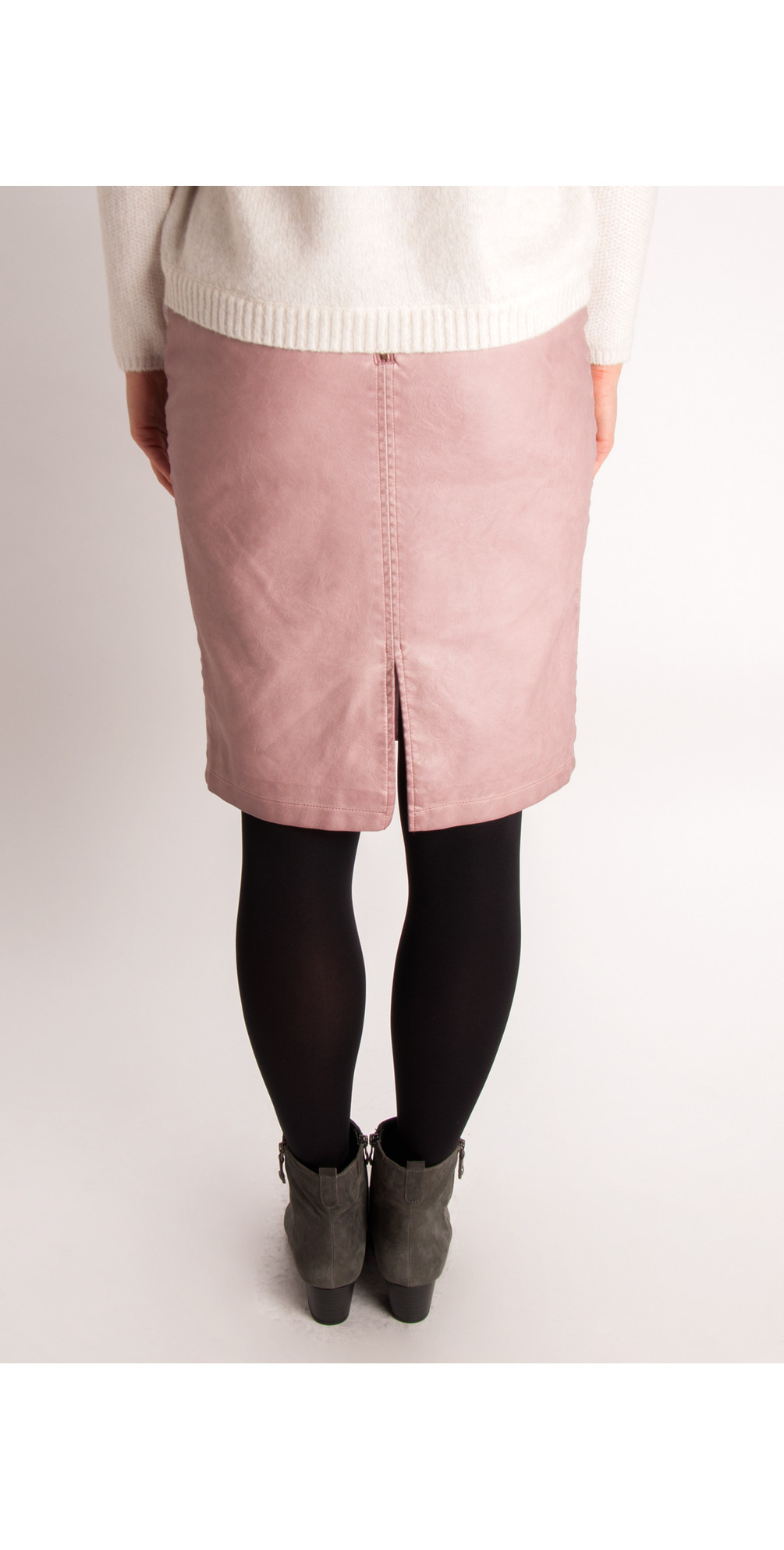 Vintage Faux Leather Skirt main image