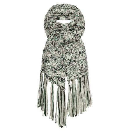 Sandwich Clothing Fringe Printed Scarf - Green