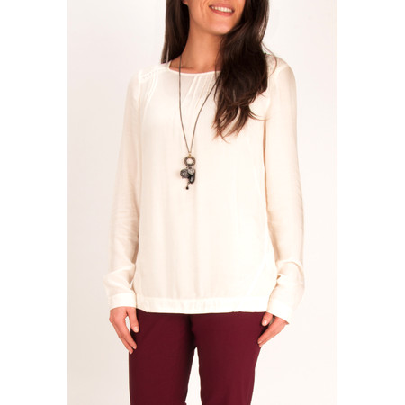 Sandwich Clothing Solid Viscose Top - White