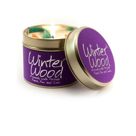 Lily-Flame Ltd. Winter Wood Candle Tin - Transparent