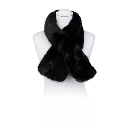 Pia Rossini Monroe Faux Fur Tippet Scarf - Black