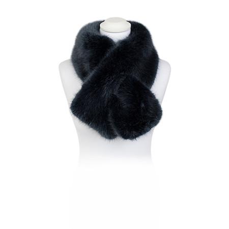 Pia Rossini Monroe Faux Fur Tippet Scarf - Blue