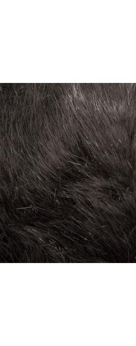 Pia Rossini Monroe Faux Fur Tippet Scarf Charcoal