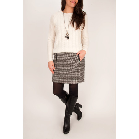 Sandwich Clothing Wool Jacquard Skirt - Black