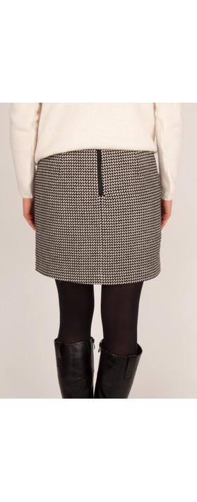Sandwich Clothing Wool Jacquard Skirt Black