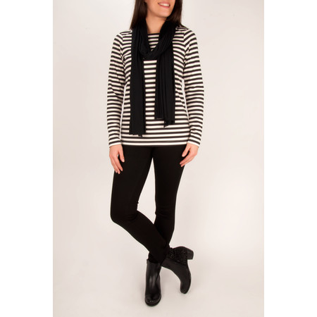 Sandwich Clothing Striped Milano Top - White