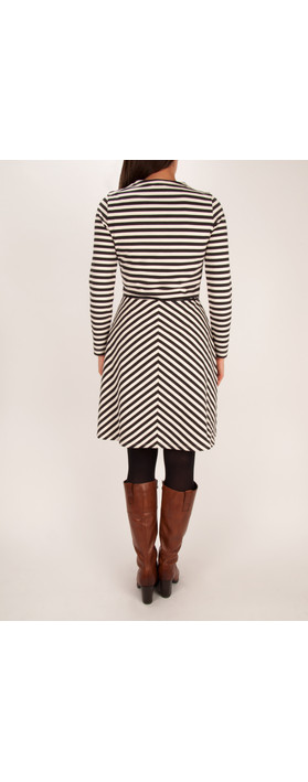 Sandwich Clothing Striped Milano Dress Washed Chalk