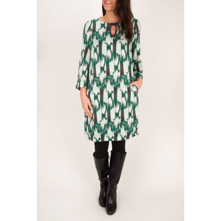 Sandwich Clothing Ikat Print Dress - Green