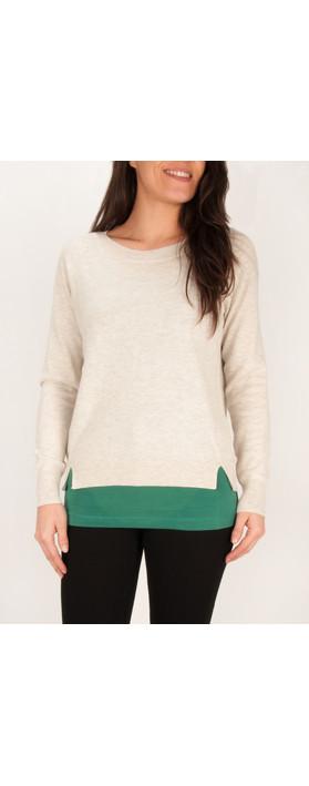 Sandwich Clothing Cotton Alpaca Lightweight Pullover Washed Chalk