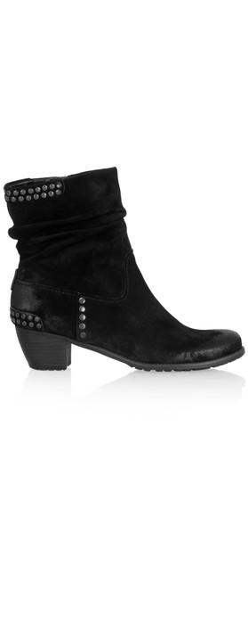 kennel und schmenger ambra suede stud ankle boot in schwarz. Black Bedroom Furniture Sets. Home Design Ideas