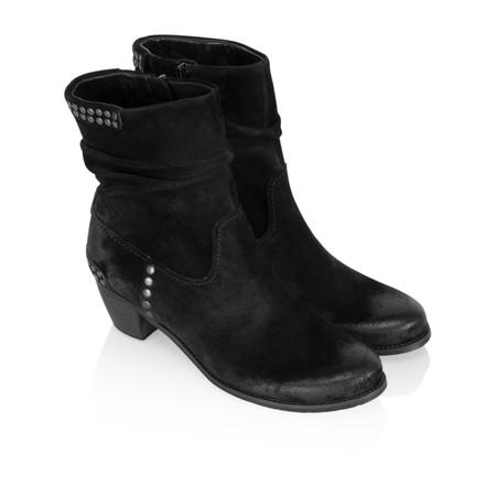 Kennel Und Schmenger Ambra Suede Stud Ankle Boot - Black
