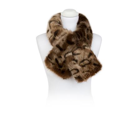 Pia Rossini Monroe Faux Fur Tippet Scarf - Ocelot
