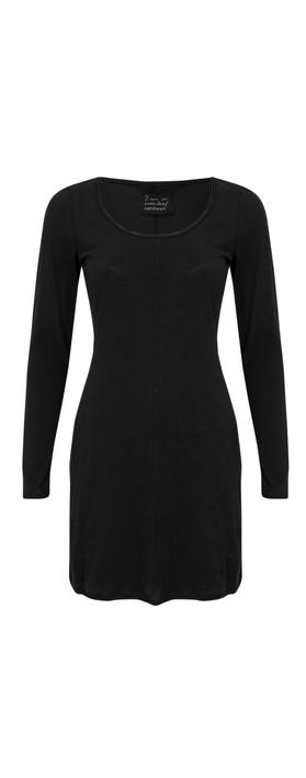 Sandwich Clothing Cotton Slub Jersey Dress Black