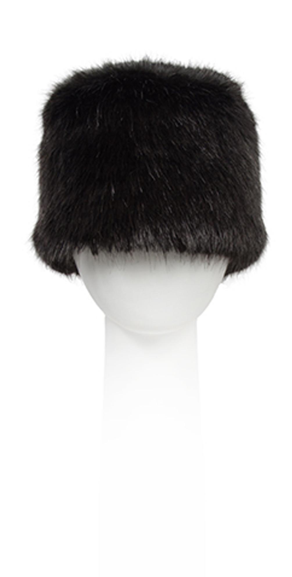 Pia Rossini Monroe Faux Fur Russian Hat in Black cf92d9df624