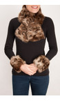 Pia Rossini Ocelot Monroe Faux Fur Tippet Scarf