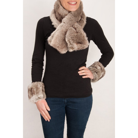 Pia Rossini Monroe Faux Fur Cuff - Grey
