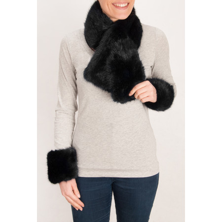 Pia Rossini Monroe Faux Fur Cuff - Black