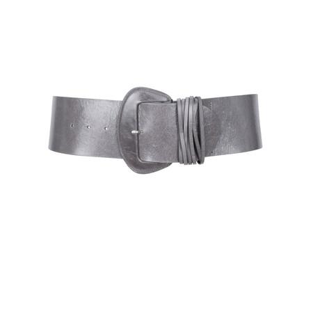 40f5489d365 HOBBS Wide Buckle Belt - Grey