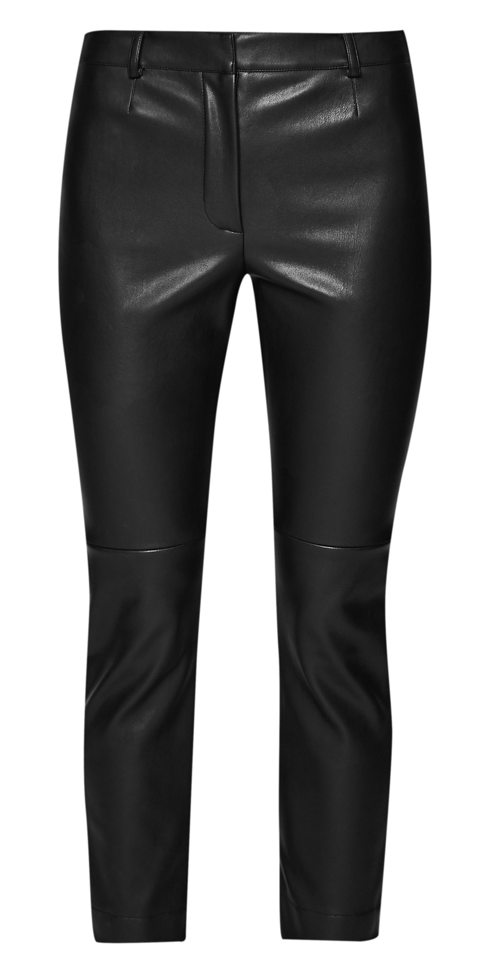 7455cf82c31 French Connection Atlantic Faux Leather Cropped Trouser in Black