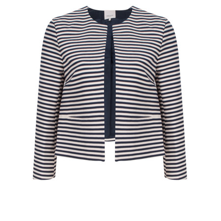 Great Plains Bella Breton Stripe Jacket - Blue