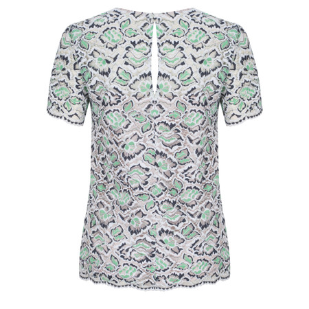 French Connection Boccara Lace Top - Green