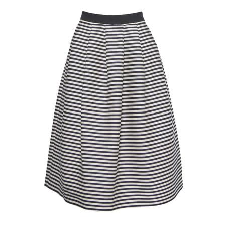 Great Plains Bella Breton Stripe Skirt - Blue
