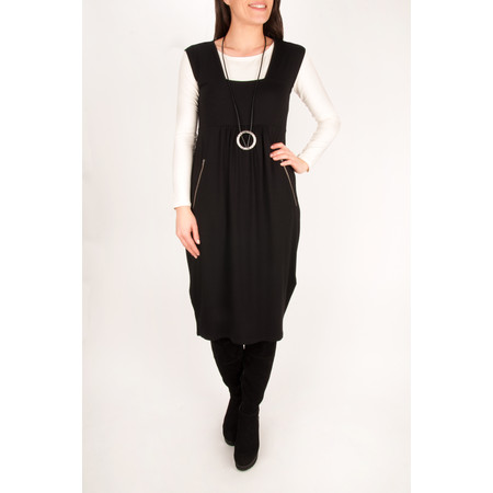 Masai Clothing Onora Fitted Tulip Dress - Black