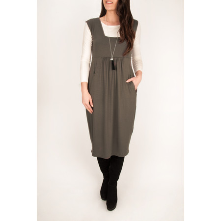 Masai Clothing Onora Fitted Tulip Dress - 401-nougat