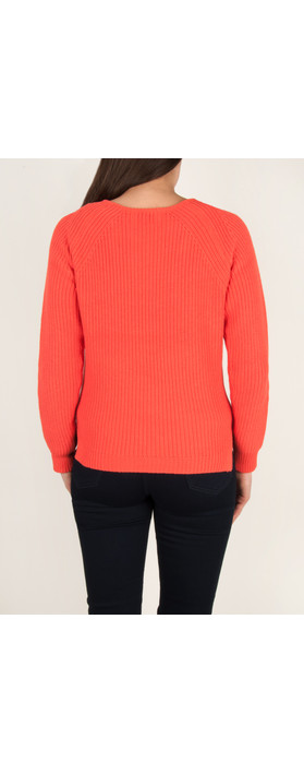 Sandwich Clothing Chunky Cotton Pullover Warm Coral
