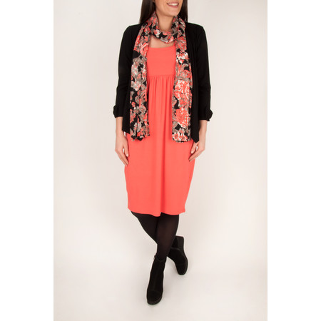 Masai Clothing Onora Fitted Tulip Dress - 501-watermelon