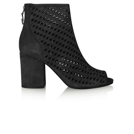 Ash Flash Peep Toe Boot - Black