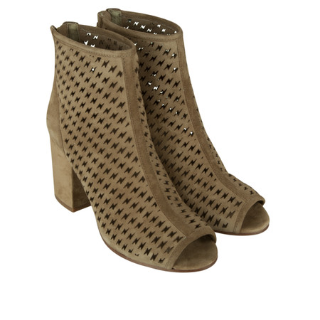 Ash Flash Peep Toe Boot - Beige