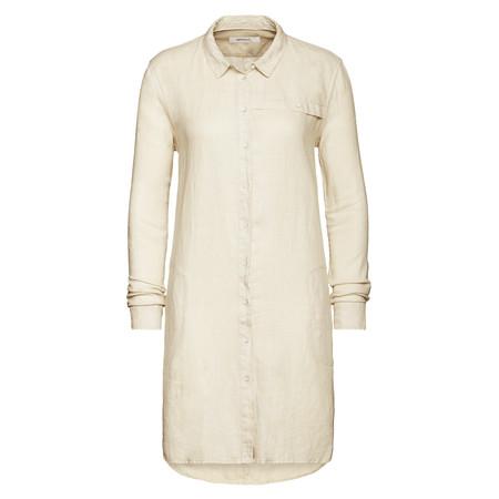 Sandwich Clothing Linen Shirt Dress - Silver
