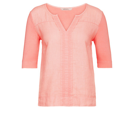 Sandwich Clothing Woven Cotton Blend Top - Pink