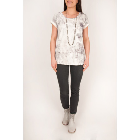 Sandwich Clothing Watercolour Printed Top - Grey Jade