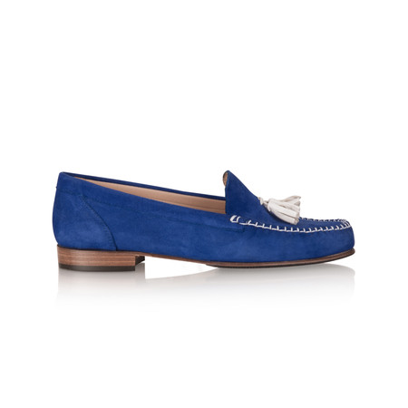 HB Shoes Maree Suede Tassel Loafer - Blue