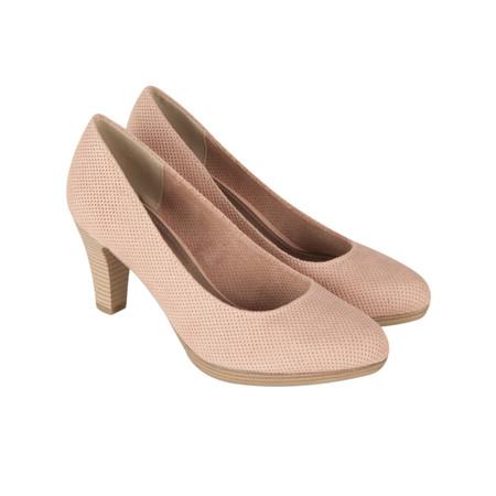 Marco Tozzi Textile Court Shoe - Pink